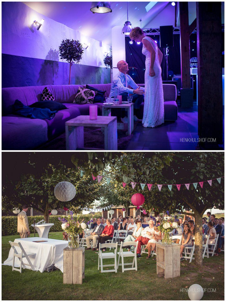 bruiloft met sfeer